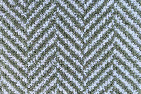 Axminster Cut Pile wool carpet green herringbone pattern