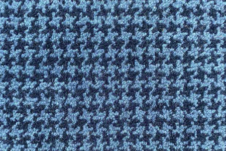 Axminster Cut Pile wool carpet blue houndstooth pattern