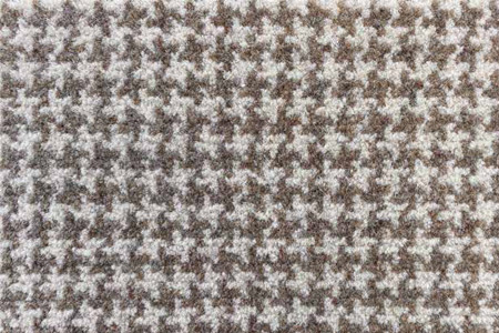 Axminster Cut Pile wool carpet natural houndstooth pattern