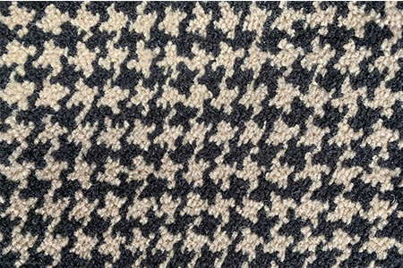 Axminster Cut Pile wool carpet houndstooth pattern
