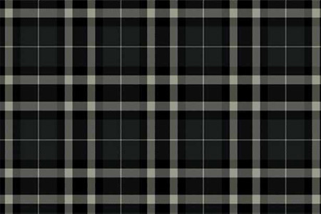 Axminster Cut Pile wool carpet black tartan pattern